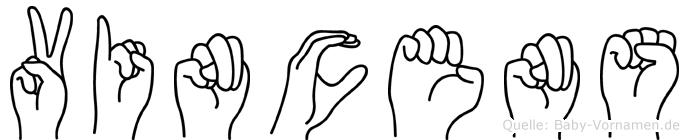 Vincens in Fingersprache für Gehörlose