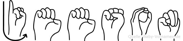 Jeeson in Fingersprache für Gehörlose