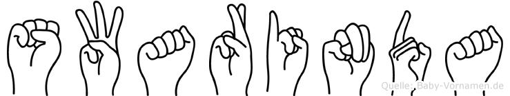 Swarinda im Fingeralphabet der Deutschen Gebärdensprache