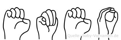 Emeo in Fingersprache für Gehörlose