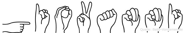 Giovanni in Fingersprache für Gehörlose