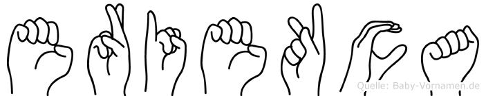 Eriekca im Fingeralphabet der Deutschen Gebärdensprache