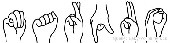 Marquo in Fingersprache für Gehörlose
