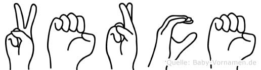 Verce in Fingersprache für Gehörlose