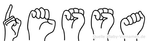 Dessa im Fingeralphabet der Deutschen Gebärdensprache
