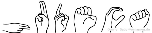 Hudeca in Fingersprache für Gehörlose