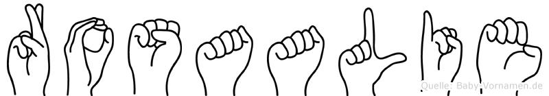 Rosaalie in Fingersprache für Gehörlose