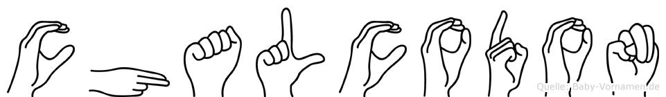 Chalcodon im Fingeralphabet der Deutschen Gebärdensprache