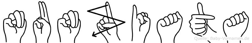Nunziata in Fingersprache für Gehörlose