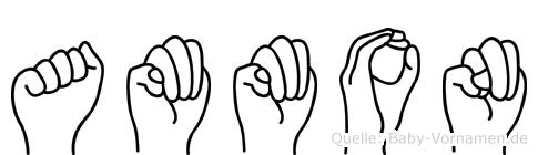 Ammon im Fingeralphabet der Deutschen Gebärdensprache