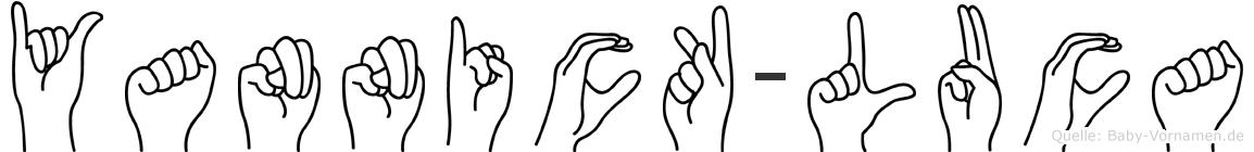 Yannick-Luca im Fingeralphabet der Deutschen Gebärdensprache