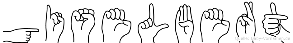 Giselbert in Fingersprache für Gehörlose
