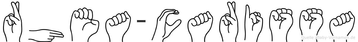 Rhea-Carissa im Fingeralphabet der Deutschen Gebärdensprache