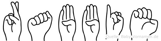 Rabbie im Fingeralphabet der Deutschen Gebärdensprache