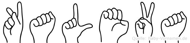 Kaleva in Fingersprache für Gehörlose
