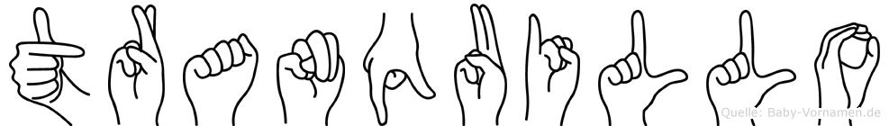 Tranquillo in Fingersprache für Gehörlose