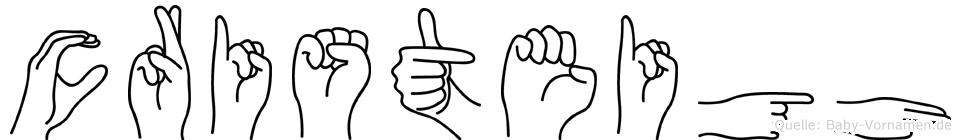Cristeigh im Fingeralphabet der Deutschen Gebärdensprache