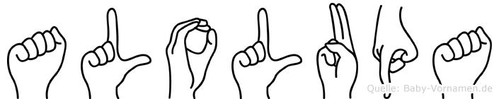 Alolupa im Fingeralphabet der Deutschen Gebärdensprache