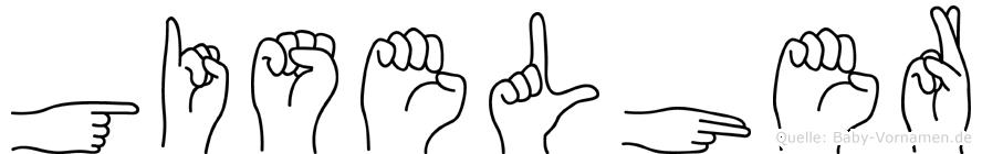 Giselher in Fingersprache für Gehörlose