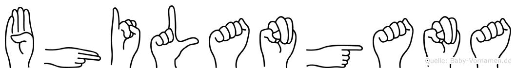 Bhilangana im Fingeralphabet der Deutschen Gebärdensprache