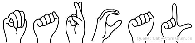 Marcal im Fingeralphabet der Deutschen Gebärdensprache