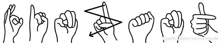 Finzant in Fingersprache für Gehörlose