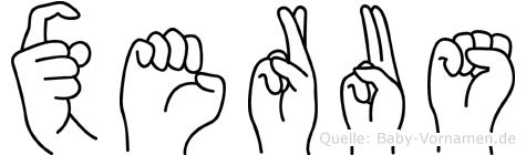 Xerus in Fingersprache für Gehörlose