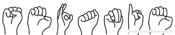 Sefanie in Fingersprache für Gehörlose