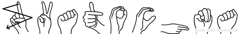 Zvatochna im Fingeralphabet der Deutschen Gebärdensprache
