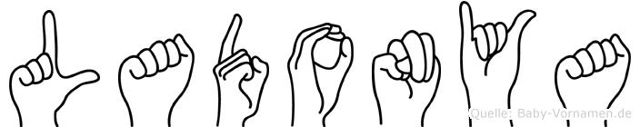 Ladonya in Fingersprache für Gehörlose
