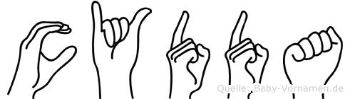 Cydda in Fingersprache f�r Geh�rlose