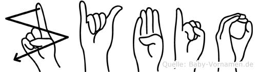 Zybio in Fingersprache für Gehörlose