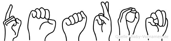 Dearon im Fingeralphabet der Deutschen Gebärdensprache