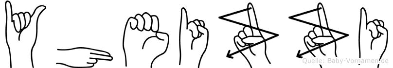 Yheizzi in Fingersprache für Gehörlose