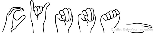 Cynnah in Fingersprache für Gehörlose