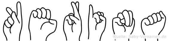 Kerina in Fingersprache für Gehörlose