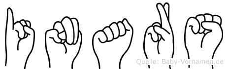 Inars im Fingeralphabet der Deutschen Gebärdensprache