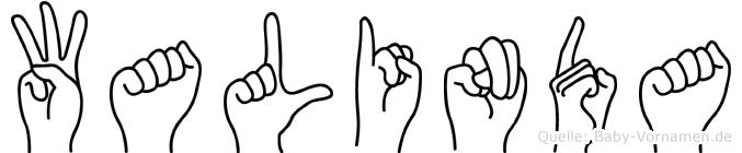 Walinda im Fingeralphabet der Deutschen Gebärdensprache
