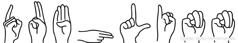 Dubhlinn im Fingeralphabet der Deutschen Gebärdensprache