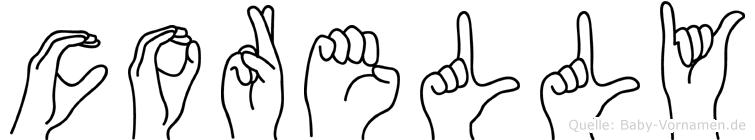 Corelly in Fingersprache für Gehörlose