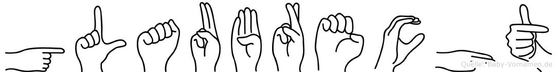 Glaubrecht in Fingersprache für Gehörlose