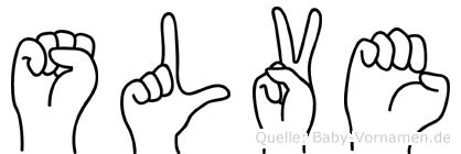 Sölve im Fingeralphabet der Deutschen Gebärdensprache
