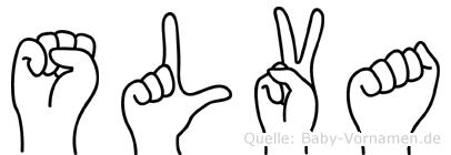 Sölva im Fingeralphabet der Deutschen Gebärdensprache