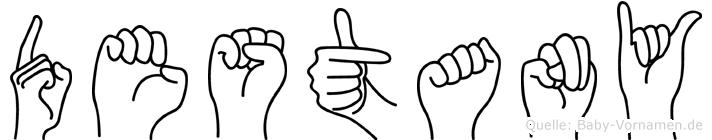 Destany im Fingeralphabet der Deutschen Gebärdensprache