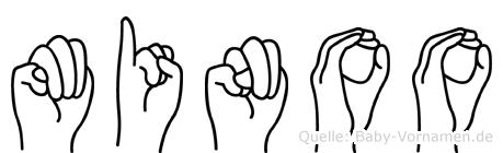 Minoo in Fingersprache für Gehörlose