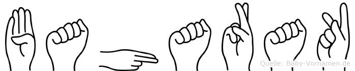 Baharak im Fingeralphabet der Deutschen Gebärdensprache