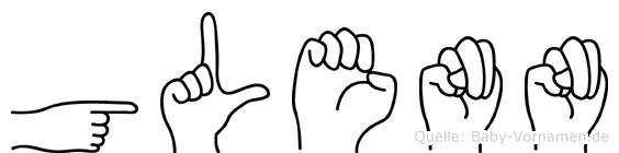 Glenn in Fingersprache für Gehörlose