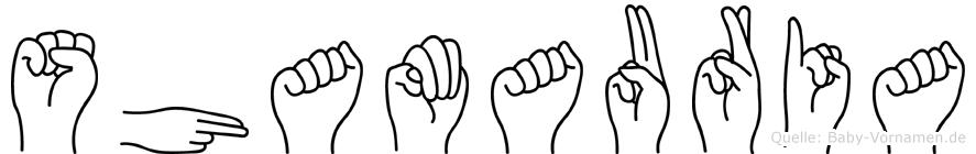 Shamauria im Fingeralphabet der Deutschen Gebärdensprache