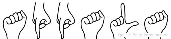 Appala in Fingersprache für Gehörlose