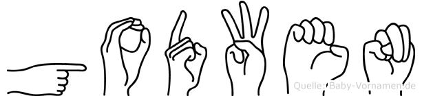 Godwen in Fingersprache für Gehörlose